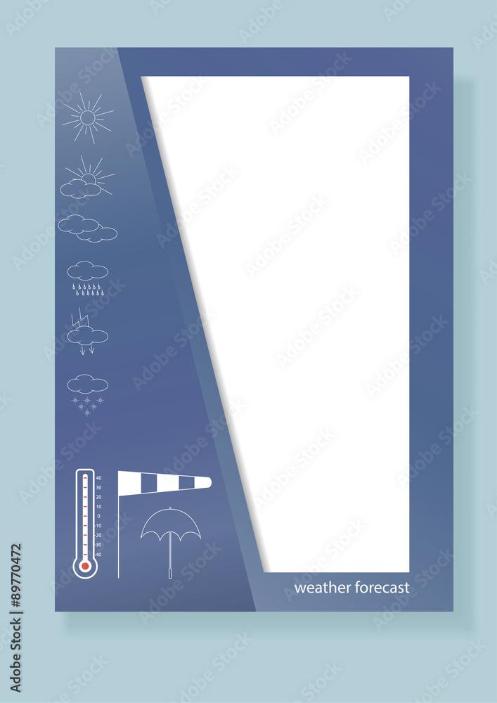 Fototapeta Design of a template for the booklet, brochures. - obraz na płótnie