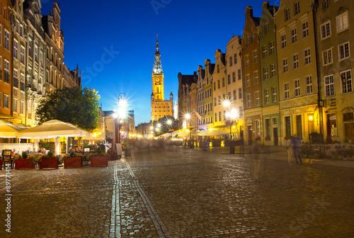 Fototapety, obrazy: Gdańsk rynek starego miasta