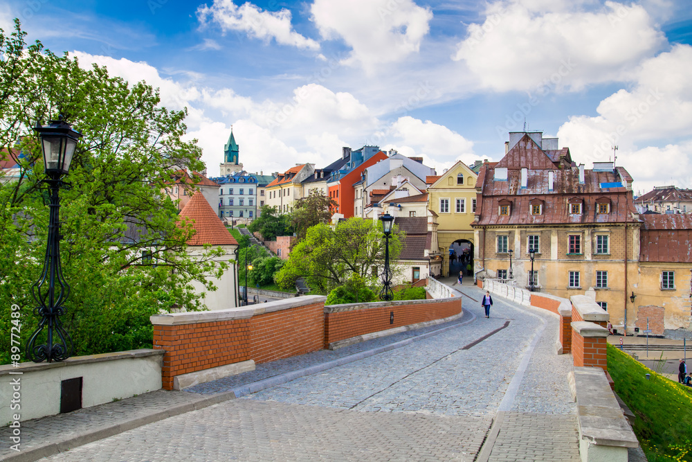 Old town in City of Lublin, Poland
