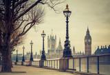 Fototapeta Londyn - Big Ben and Houses of parliament, London