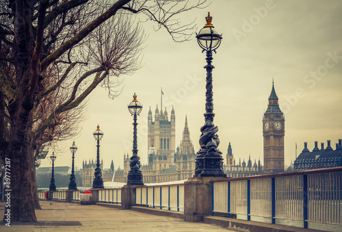 Fototapety, obrazy: Big Ben and Houses of parliament, London