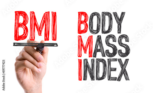 Hand with marker writing the word BMI - Body Mass Index Canvas Print