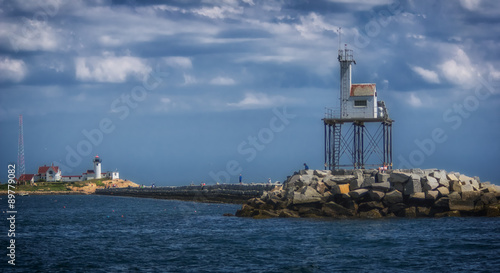 Photo  View of Lighthouse from the Ocean
