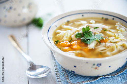Hot and alible chicken soup