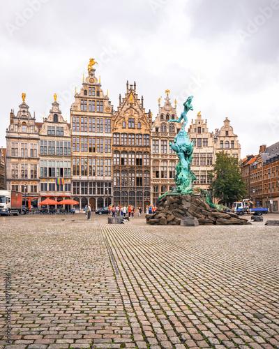Keuken foto achterwand Antwerpen Cental square of Antwerp. City Hall