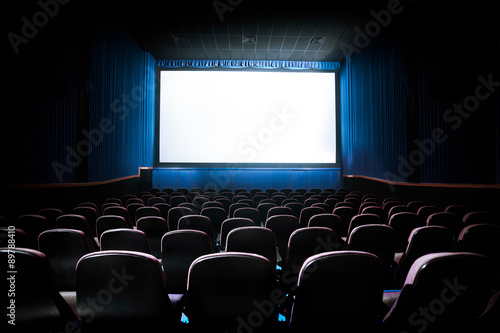 Poster Theater High contrast image of movie theater screen