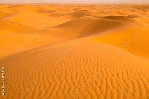 Poster de jardin Desert de sable Sand dunes in the Sahara Desert, Tagounite (Morocco)