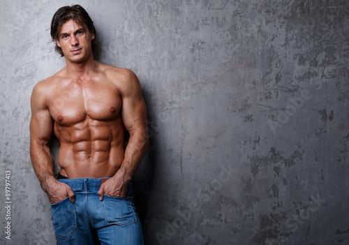 Fotografie, Obraz  Handsome muscle man