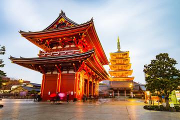 Fototapeta Senso-ji Temple at Asakusa area in Tokyo, Japan