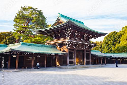 Staande foto Tokyo Meiji-jingu shrine in Tokyo, Japan