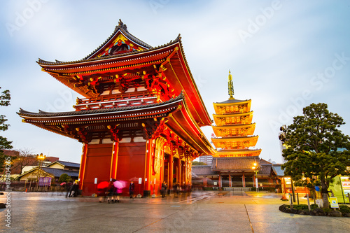 Senso-ji Temple at Asakusa area in Tokyo, Japan Canvas Print