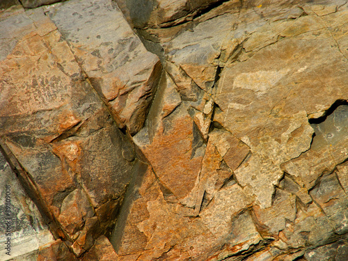 Fotografía This beautiful scarred rockface is a fine example of abstraction in nature