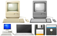 Personal Computer With Monitors And Keyboards