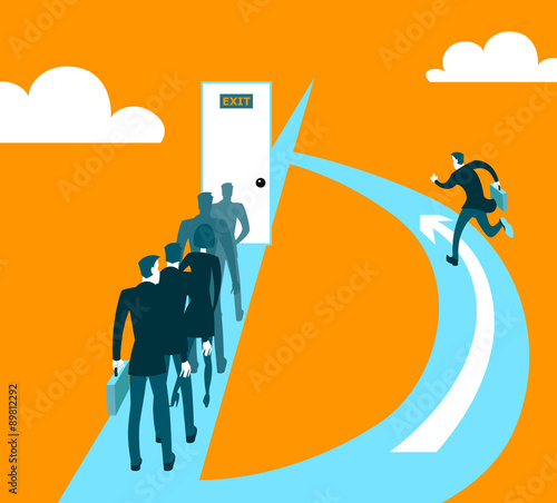 Different ways of business Wall mural