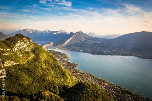 Fototapeta Vue sur le lac d'Annecy