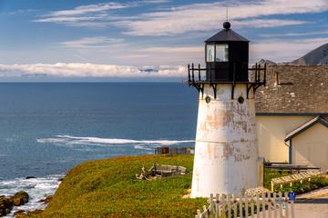Fototapeta Lighthouse on California coast, Point Montara Fog Signal and Light Station