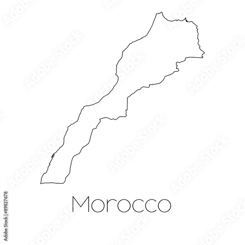 Fotografie, Obraz Country Shape isolated on background of the country of Morocco
