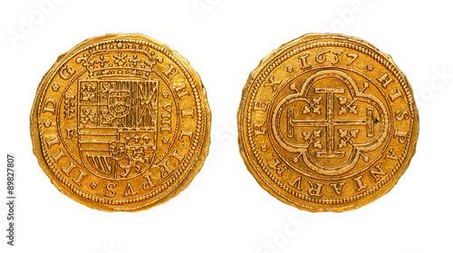 Fotografie, Obraz  Pirate Treasure /古い金貨