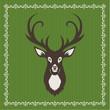Hirsch mit grünem Hintergrund