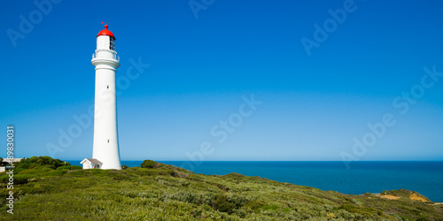 Tuinposter Vuurtoren Split Point Lighthouse at Airey's Inlet, Victoria, Australia