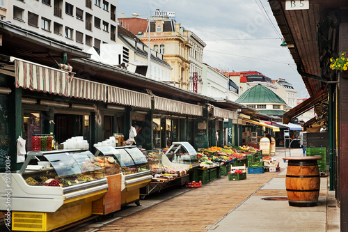 Vienna, Naschmarkt, early in the morning