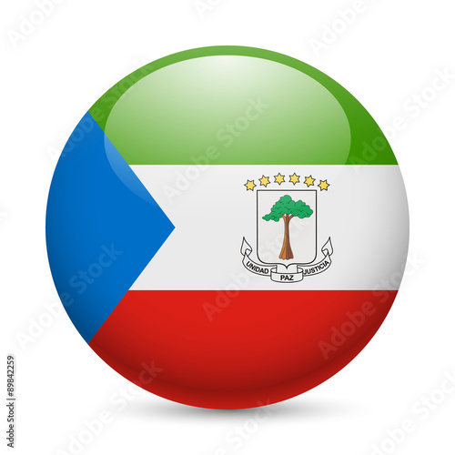 Fotografía  Round glossy icon of Equatorial Guinea