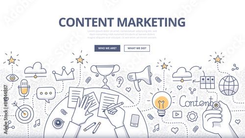 Fotografía  Content Marketing Doodle Concept
