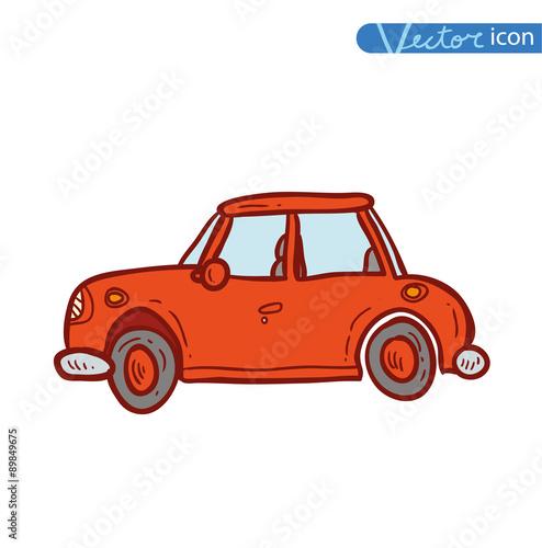 Staande foto Cartoon cars Cartoon car , vector illustration.