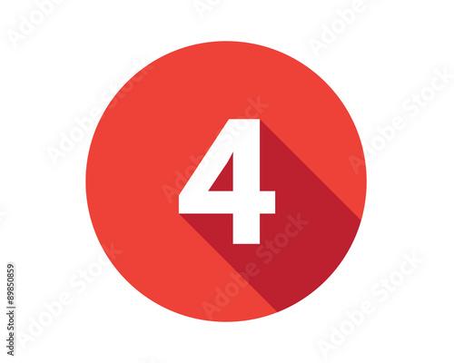 Vászonkép 4 calendar holiday number