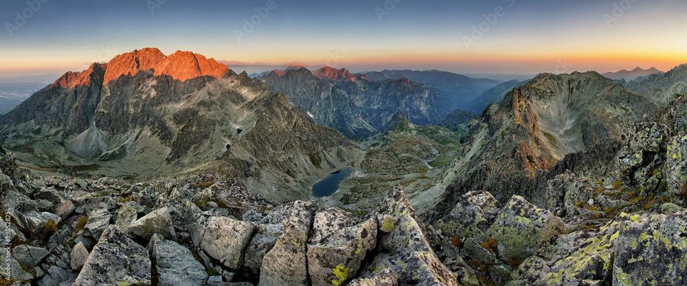 Fototapety, obrazy: Tatras - Gerlach peak at sunrise, mountain panoramas
