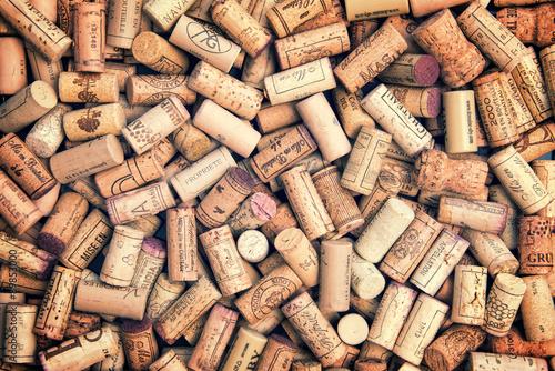 Fotografía  Corchos de vino del fondo