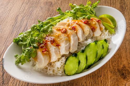 Photo  シンガポール・マレーシア・タイ風チキンライス Hainanese chicken rice