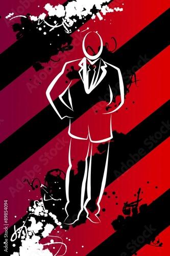 In de dag Muziekband Businessman icon illustration
