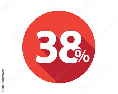 Fotografia  38 percent discount sale red circle