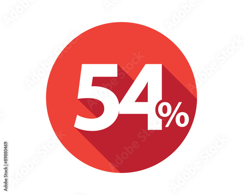 Fotografia  54 percent  discount sale red circle