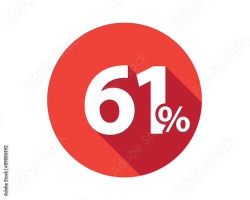 Fotografia  61 percent  discount sale red circle