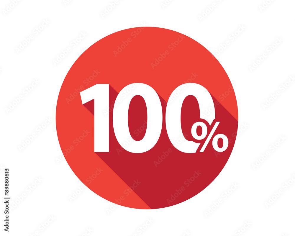 Fotografía  100 percent  discount sale red circle