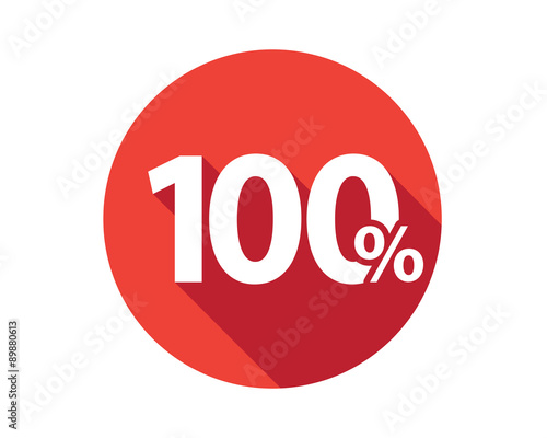 Fotografia  100 percent  discount sale red circle