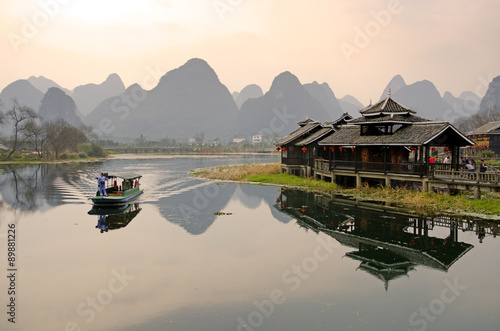 Poster Guilin Landscape in Yangshuo Guilin, China ..
