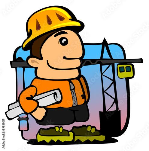 Fotobehang Indiërs строитель