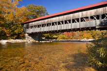 Covered Bridge, River And Fall...