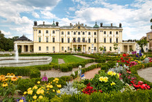 Famous Branicki Palace And Its Gardens In Bialystok. Poland.