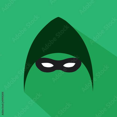 Fototapeta  Superhero flat style icon