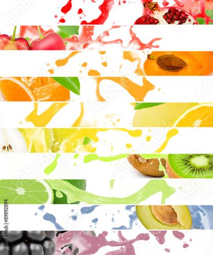 Canvas Prints Dinosaurs Fruit splash
