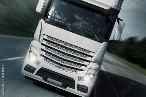 Fototapeta Transport ciężarowy - Frontside