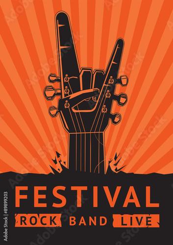 rock-festival-plakat-wektor