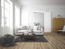 Wohnzimmer Und Schlafzimmer In Einer Altbau Wohnung