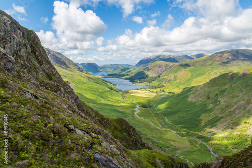 фотография Buttermere and Warnscale Bottom from Green Crag, The Lake District, England