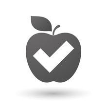Apple Icon With A Check Mark