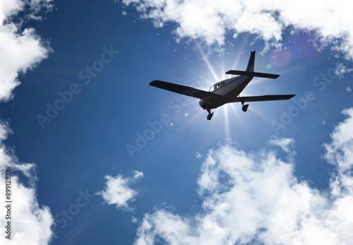 Fotografie, Obraz  aviation avion nuage aéroclub ciel bleu soleil brevet pilote
